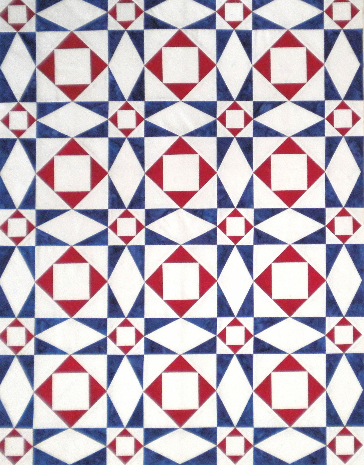 Storm at Sea 12 Pre-Cut Kit Red, White, & Blue