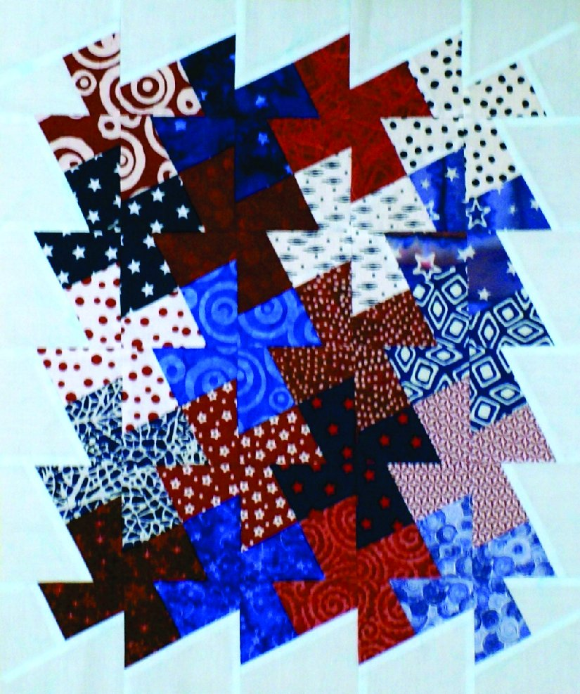 Red White and Blue Miniature Pinwheel