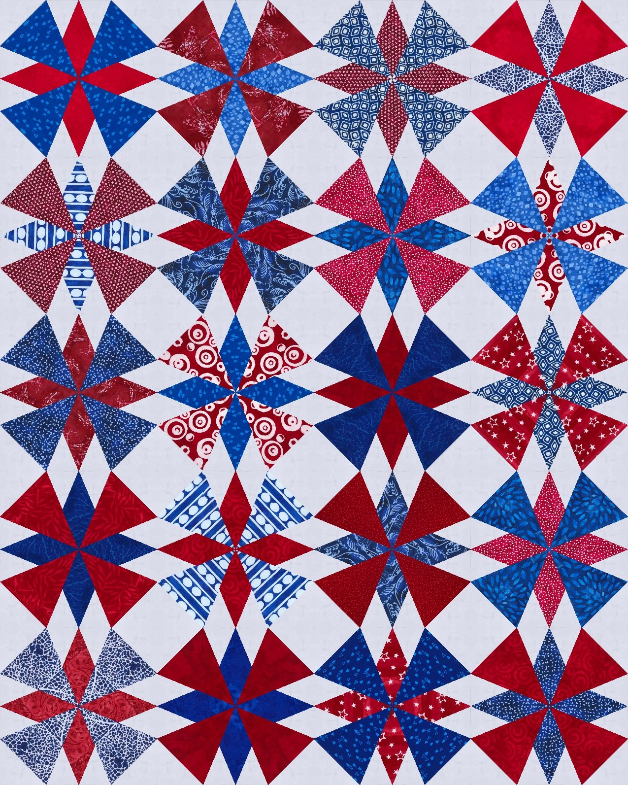 Dakota Star -Red and Blue