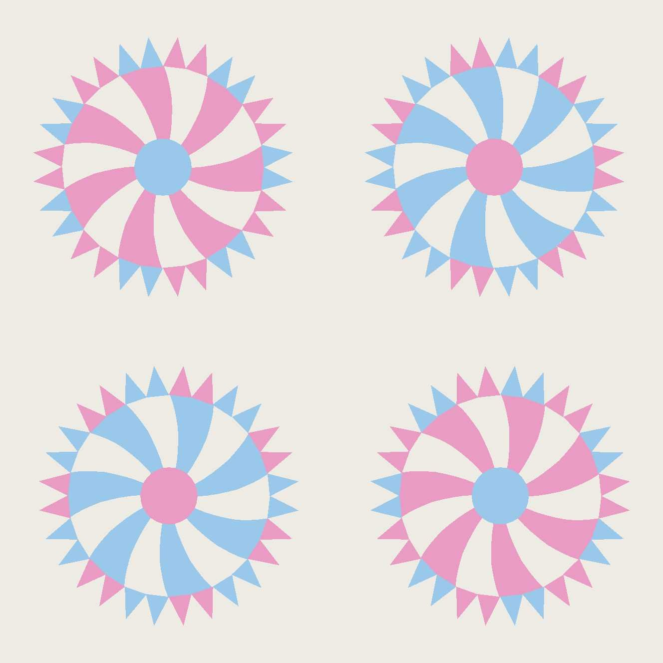 Wheel of Fortune Block kit Pink and Blue