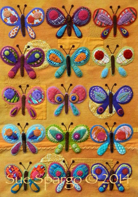 Sue Spargo Butterflie Quilt class workshop