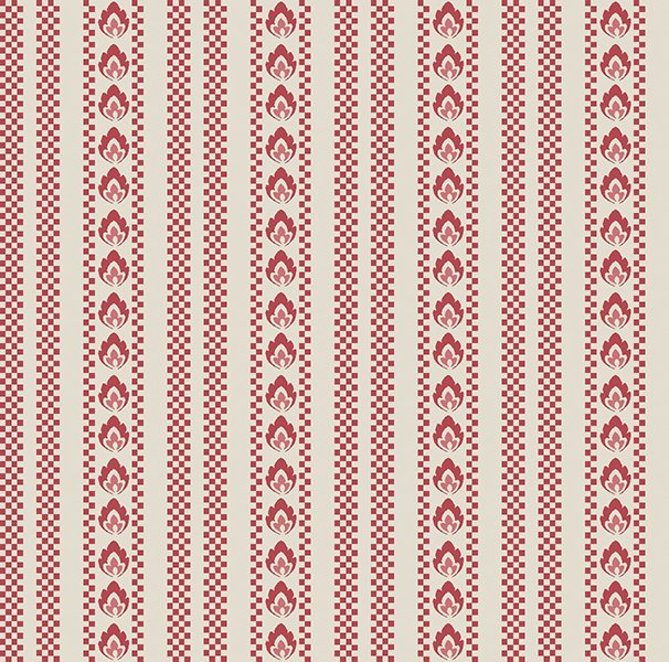 6130-10 Bandana Florals Red