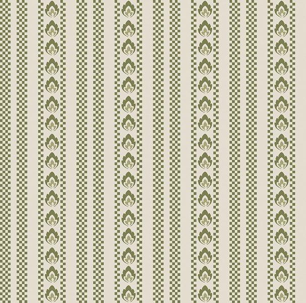6130-44 Bandana Florals Green