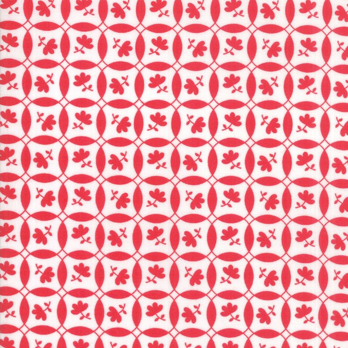23316 11 Feed Sacks Red Rover Ruby White