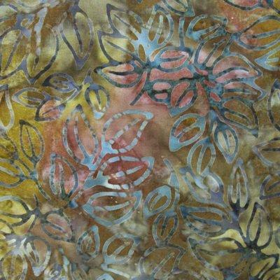 AMD15545-191 Artisan Batik Grove 3 Collection Autumn Branch Leaves Batik