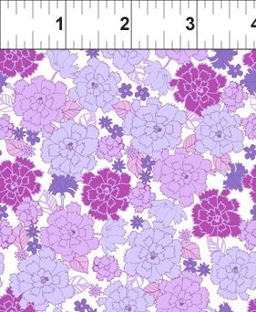 4GSE 6 Garden Delights - Carnation - Purple/White