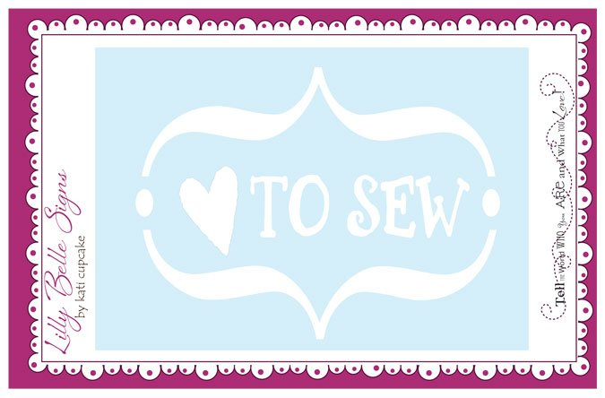 LB002 Lilly Belle Love To Sew Decal