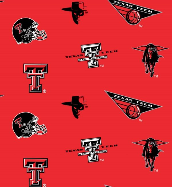 TTU-045 Texas Tech NCAA-Texas Tech Red and Black