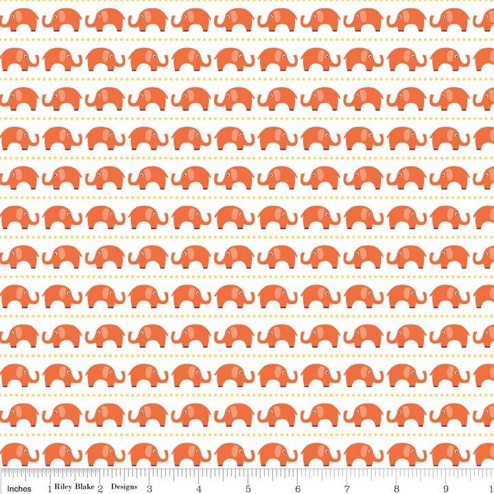 Oh Boy Elephants - C3301-Orange
