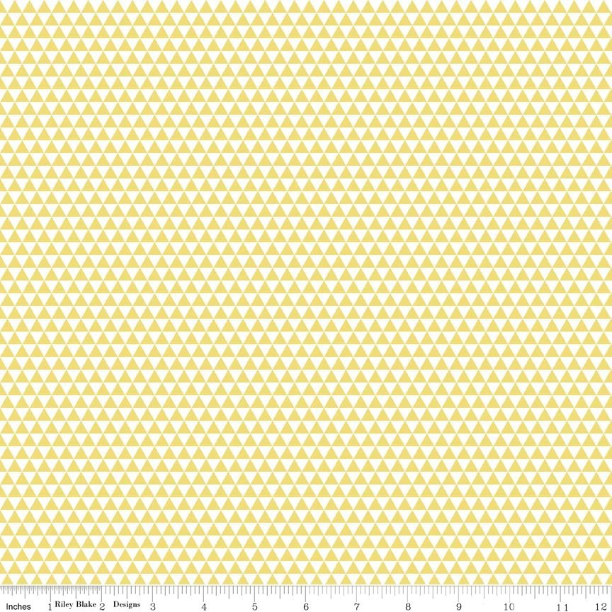 Oh Boy Triangles  -  C3305-Yellow CW