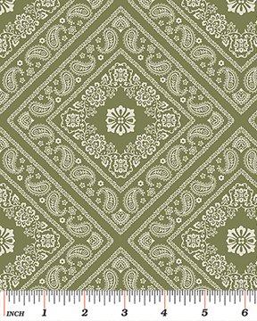 6127-44 Bandana Florals Green