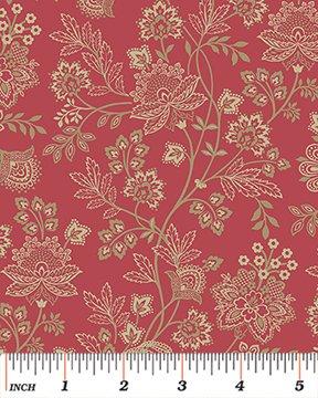6128-10 Bandana Florals Red