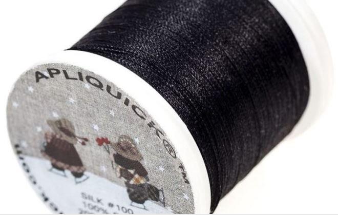 Apliquick Silk Thread - Black