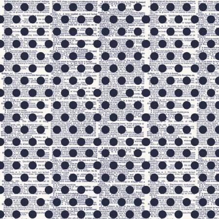 C5982R-NAVY Faded Memories Americana Dots Navy CW
