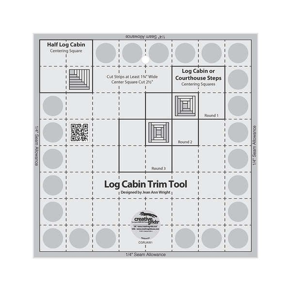 CGRJAW1 Creative Grids Log Cabin Trim Tool for 8in Finished Blocks Quilt Ruler