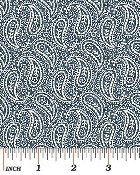 6129-55 Bandana Paisley Blue
