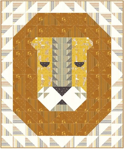 Lion's Head Quilt Kit