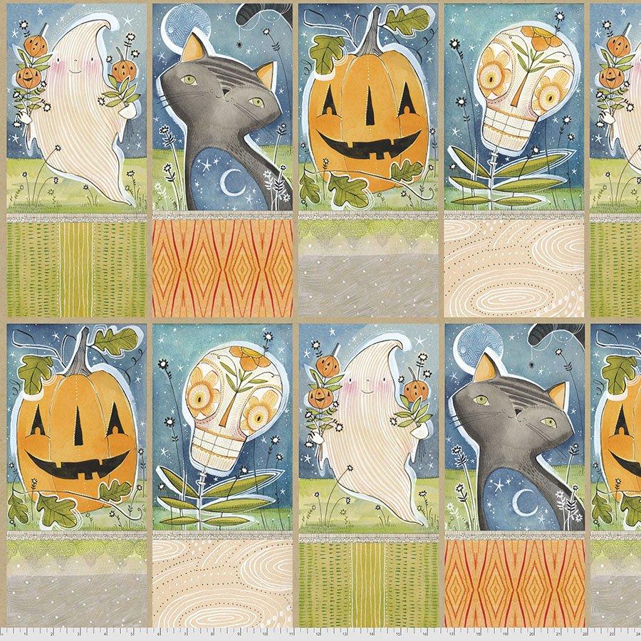 PWCD002.XPANEL Hallowed Joy Panel - Spirit of Halloween - SOLD PER YARD