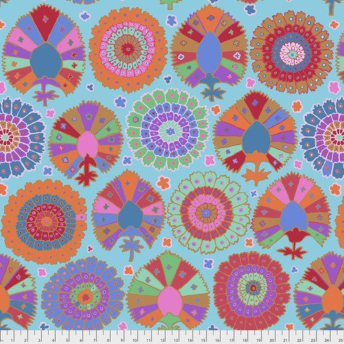 PWGP081.AQUA Kaffe Fassett - Turkish Delight - Aqua