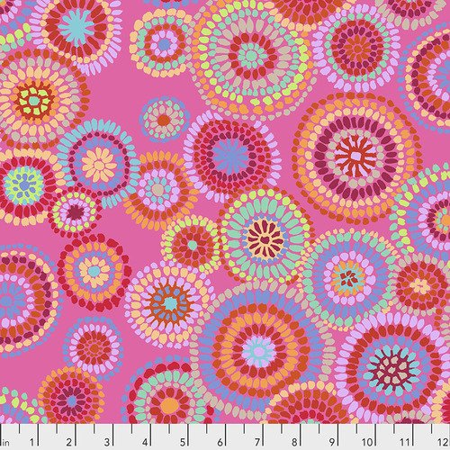 PWGP176.PINK Mosaic Circles - Pink - Kaffe Fassett Collective February 2020