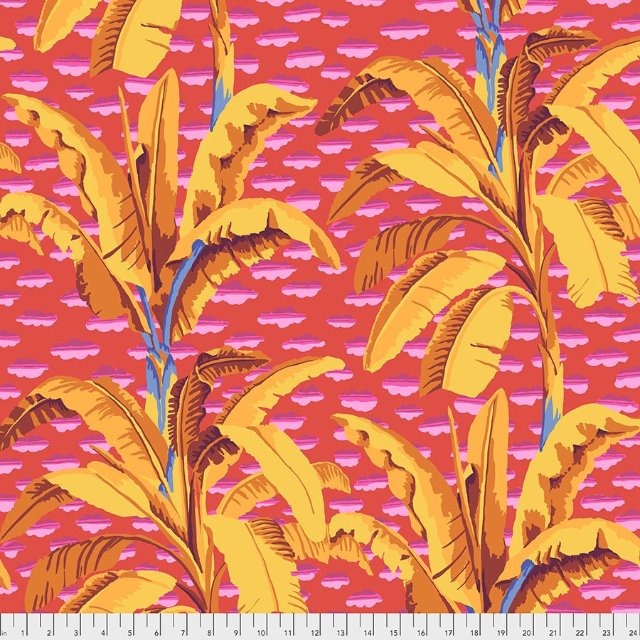 PWGP179.RED Banana Tree - Red - Kaffe Fassett Collective Spring 2021