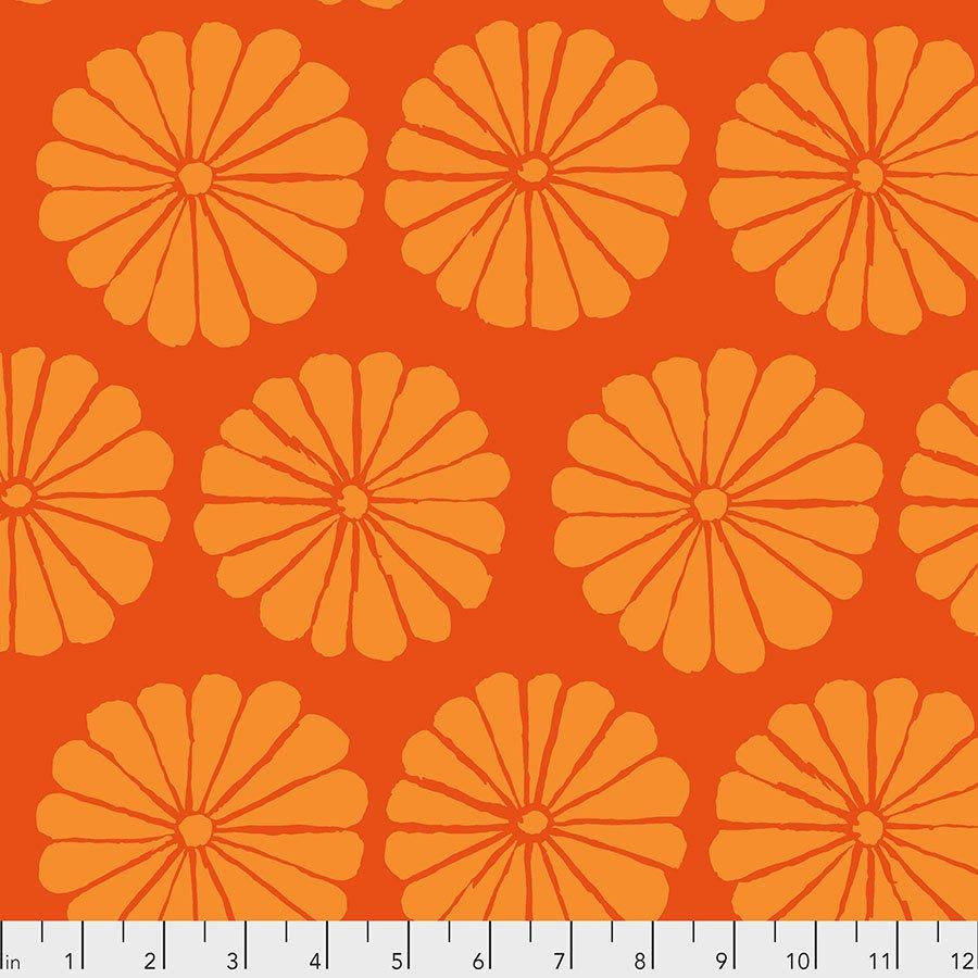 PWGP183.ORANGE Damask Flower - Orange - Kaffe Fassett Collective Spring 2021