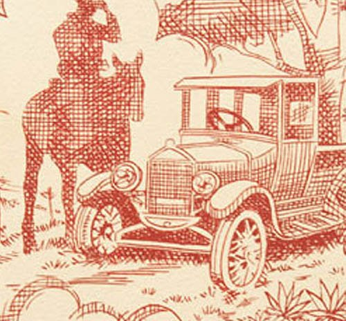 7875A Rancho Toile by Alexander Henry - Old Red Tea