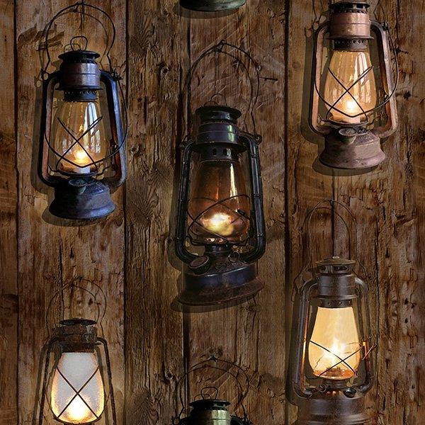 S4835-342 Oil Lanterns - Woody - Sun Up to Sundown