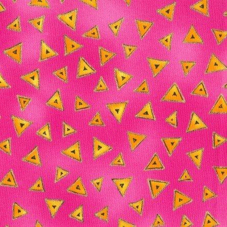 Y0841-43M LB Basic Triangle by Laurel Burch Raspberry Metallic