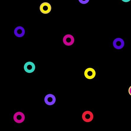 Y1123-3M LB Basic Circle by Laurel Burch Black Metallic