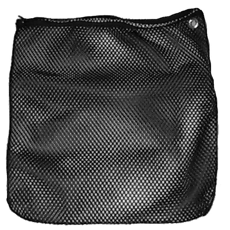 Black Mesh Bag with Zipper - Part No. 1291