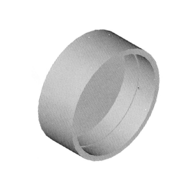 Central Vacuum White Pipe Cap Fitting - Part No. SV8080M