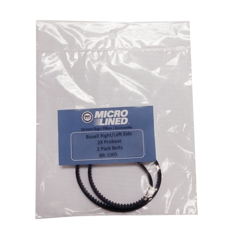 Bissell 8920 9200 and 9400 Belt 2X Right & Left Geared Belt - Part No. BR-1005