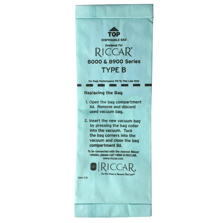 Riccar 8000 & 8900 Series Type B bags 6pk - Part No. RBH-6