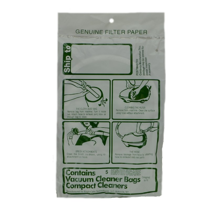 Compact / TriStar Canister Bags 5pk - Part No. 14055