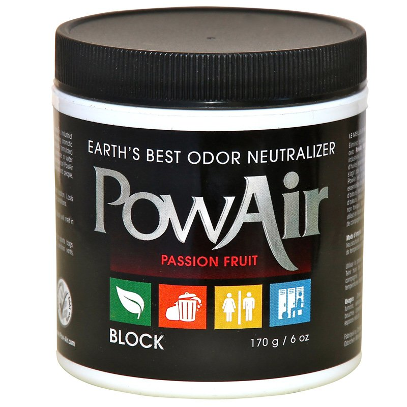 PowAir Odor Neutralizer Block 6oz Passion Fruit - Part No. PBK-170DW-PF