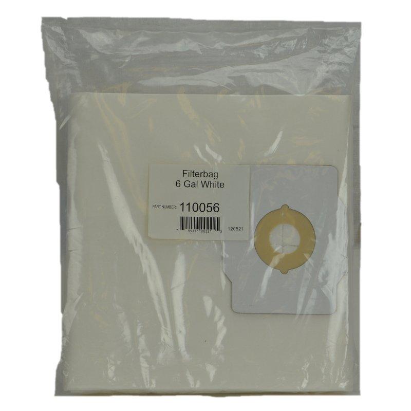 Central Vacuum 6 gal Paper Bag 3pk - Part No. 110056