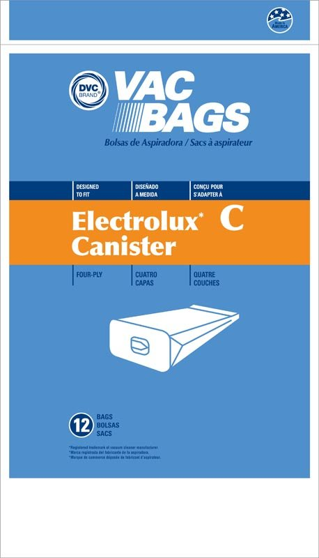 Electrolux Style C Canister Bags 12pk - Part No. 405132