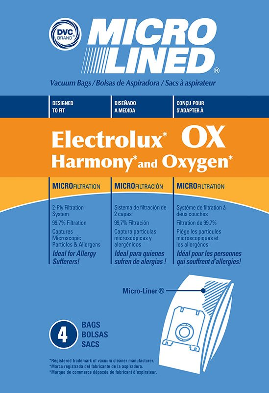 Electrolux OX Micro Lined Bags 4pk - Part No. 202B