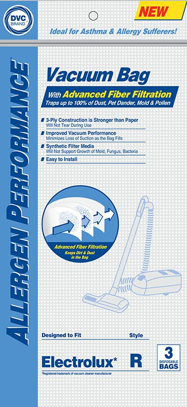 Electrolux Style R HEPA Bags 3pk - Part No. 405160