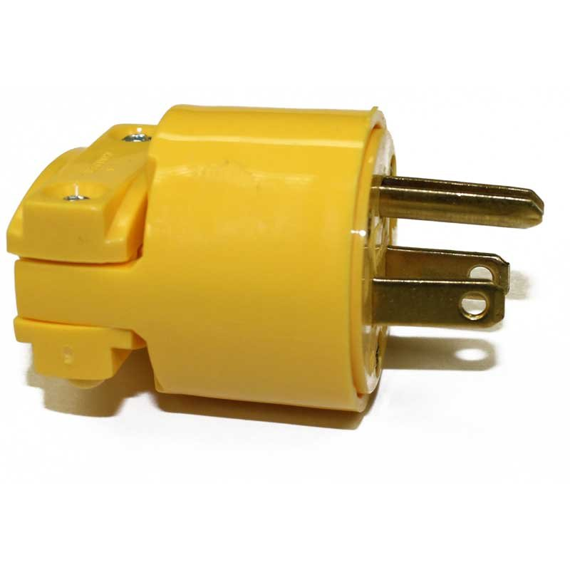Fit All 3 Wire Male Plug Yellow - Part No. 3252