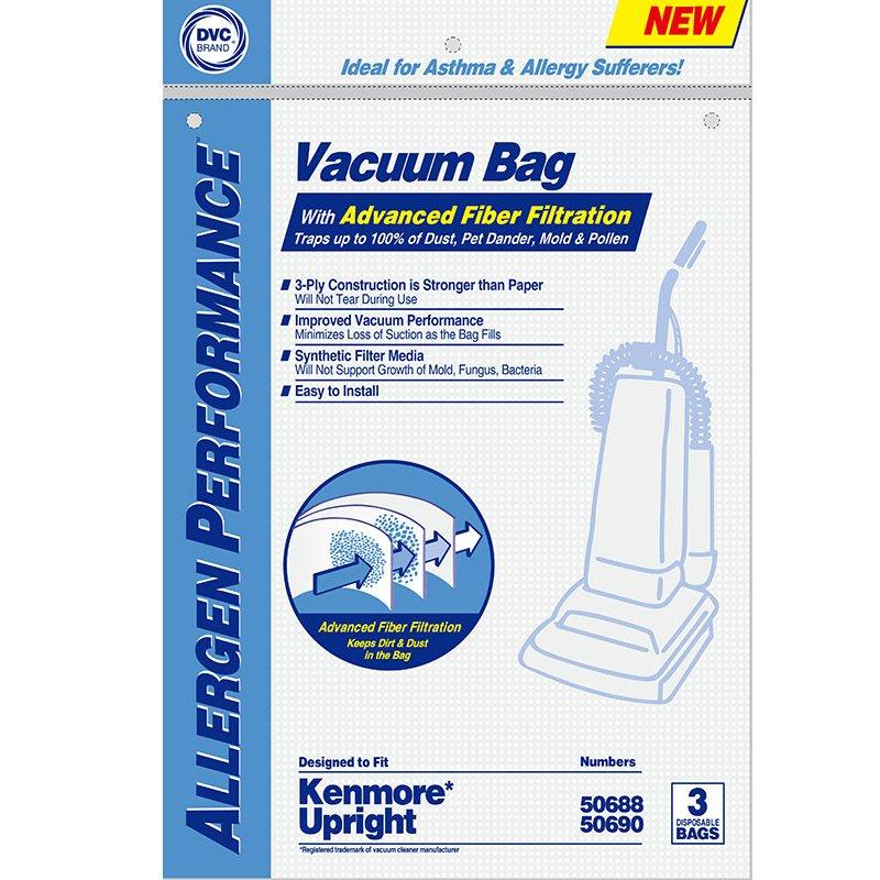 Kenmore Type O Bags 3pk - Part No. 02053293000