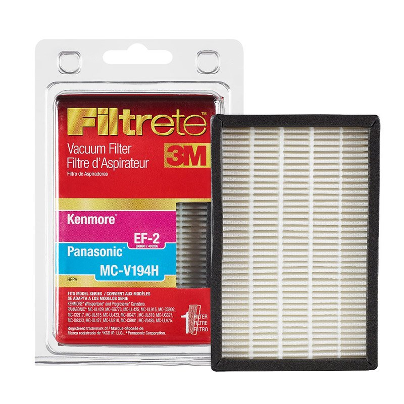 Kenmore EF-2 Filter / Panasonic MCV-194H Filter - Part No. 68832