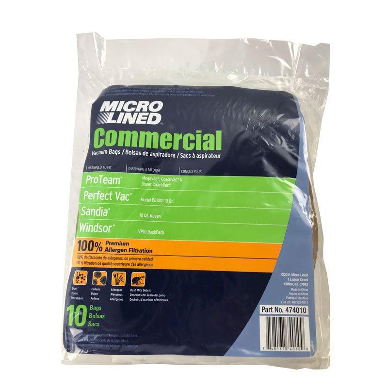 ProTeam 10qt Paper Bag 10pk - Part No. 100331