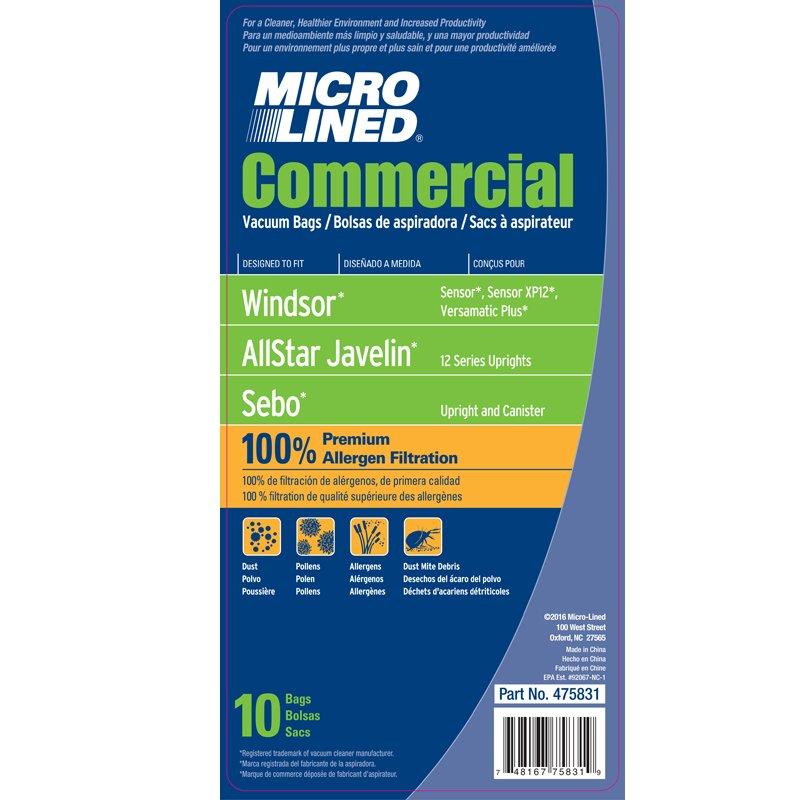 Windsor Sensor Paper Bags 10pk - Part No. 475831