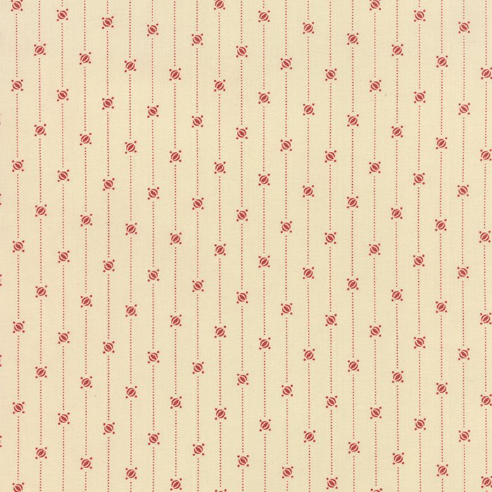 Crazy For Red Floral Stripe with Dot Ivory Red