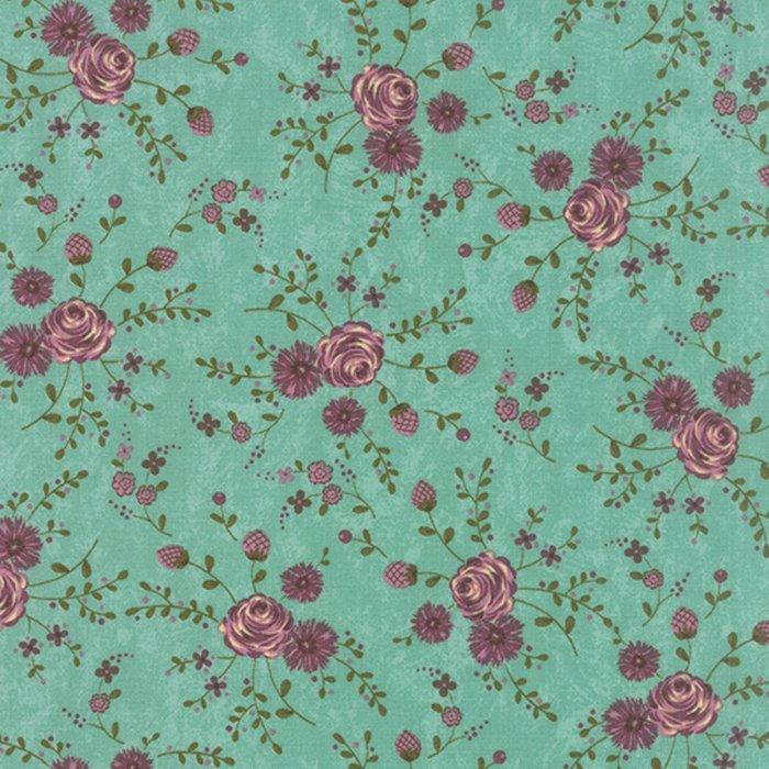 Prints Charming Floral Aqua