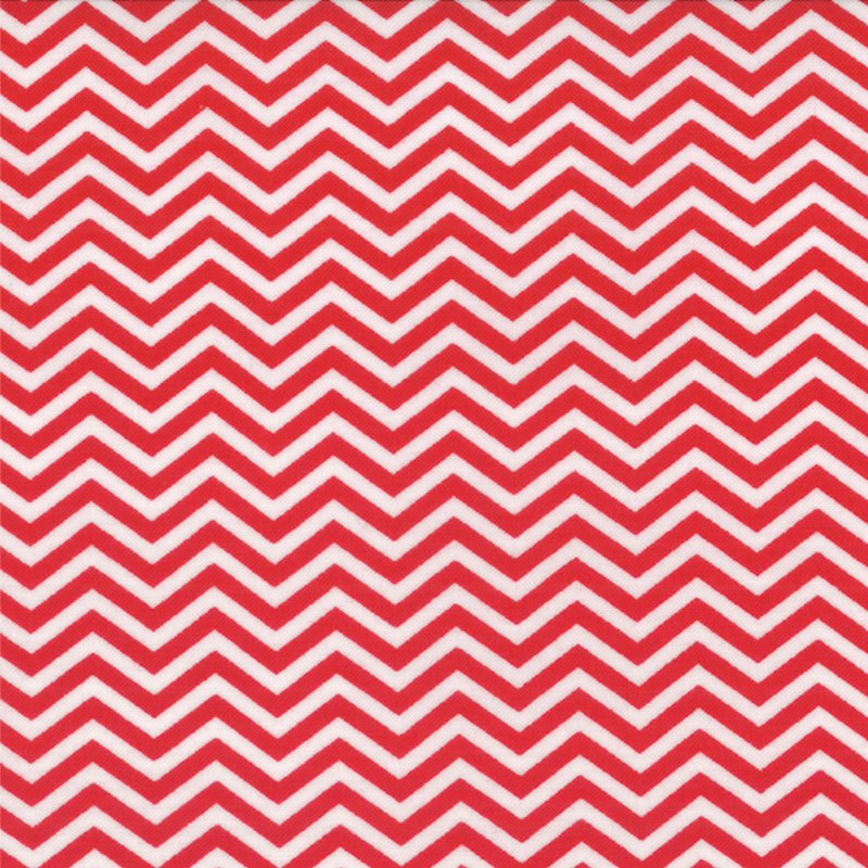 Surrounded by Love Chevron Red and White
