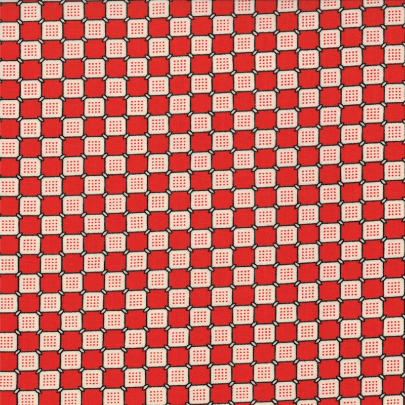 Ducks in a Row Checkerboard Red