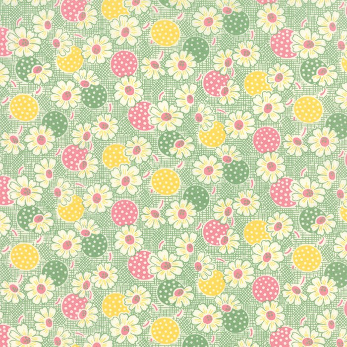 Fresh Air Polka Dot Daisy Light Green